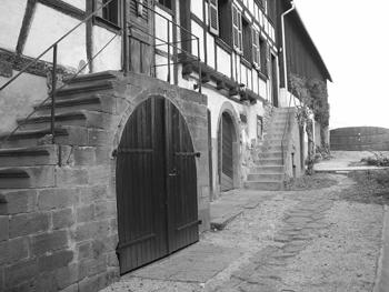 extérieur maison alsacienne du XVIIIème siècle